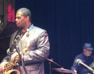 Nick on Drums with The Ray Blue Quartet